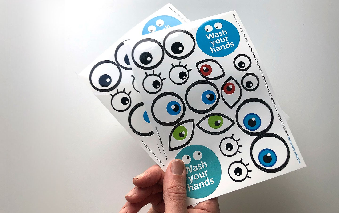 Eye Sticker sheet